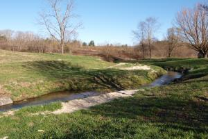 <p>Little Willow Creek flows through property and out to the French Broad River</p>