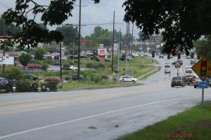 <p>View from Shelbyville Road property listings, facing east, intersection is Freedoms Way and Rt. 55</p>