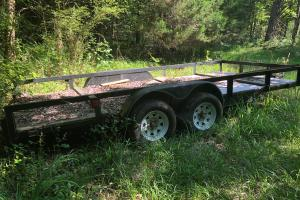 <p>16' bumper pull trailer with new floor.</p>