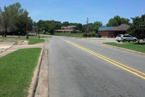 View up School Street towards the new Jacksonville High School at the top of the hill. (5 of 12)