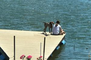 Relax and fishing off the dock. The depth is 14+/- feet off the face.  (10 of 68)