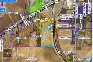 0 Hwy I35 South/Hwy 60 West, Faribault - Parcel 1: Commercial, Development: Wetland Map Parcels 1 & 2 (6 of 10)