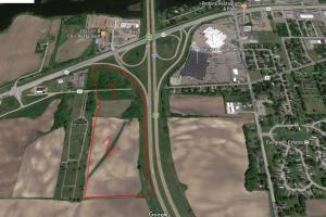 0 Hwy I35 South/Hwy 60 West, Faribault - Parcel 1: Commercial, Development: Aerial Parcels 1 & 2 Showing Proximity to commercial, retail, etc on SW Edge of Faribault (2 of 10)