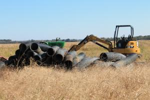 <p>New culverts for continuing improvement on roads and drainage.</p>