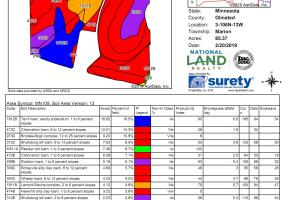 Farmland & Investment Opportunity - SE Edge Rochester (Parcel 1, 105.70 Acres): AgriData Soils Map (3 of 4)