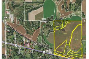 Farmland & Investment Opportunity - SE Edge Rochester (Parcel 1, 105.70 Acres):  AgriData Aerial Photo (2 of 4)