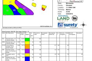 Farmland/Income-Producing/Investment Property, Rochester - Parcel 2 (60.19 Ac):  AgriData Soils Map (3 of 4)