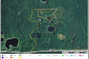0 South Tower Rd, Garrison (Mille Lacs Lk Area): aerial view showing heavily wooded site (2 of 17)