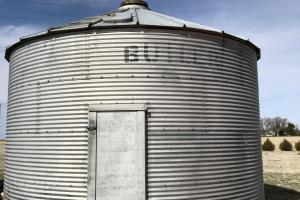 Huntsman home and pasture grain bin with electricity, spiral stairs and loft for storage (42 of 48)