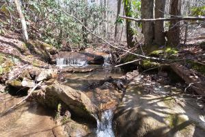 Small waterfalls, Unrestricted Woodland Acreage near Edneyville (4 of 18)