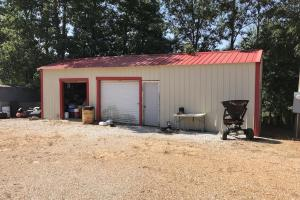 Exterior of Heated Skinning Shed with Ice Maker, Stainless Cutting Table and Deep Freezer on +/-80 Acre Kemper County, MS Hunting & Recreational Property With Custom Cabin and Pond (14 of 25)