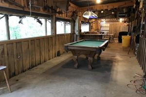 Convertible Indoor/Outdoor Common Area in Custom Cabin on +/-80 Acre Kemper County, MS Hunting & Recreational Property (8 of 25)