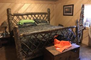 Master Bedroom in Custom Cabin on +/-80 Acre Kemper County, MS Hunting & Recreational Property (9 of 25)