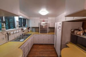 1950s Kitchen with flip down stove burners - Secluded Mountain Cabin on 103 Acres with Pond and Creek (20 of 49)
