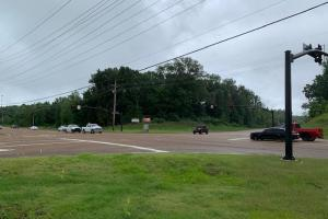 This is the intersection of Church Rd. and Airways. This perspective is taken from the Citgo Gas station looking southeast... In the center of the photo is the 7.5 acre parcel.  (3 of 3)