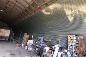 Quonset walls lined for grain storage (51 of 66)