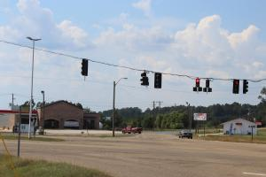 View from property on Columbia-Purvis Rd facing traffic signal. (5 of 9)