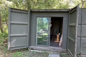 Wahoo - Mead - 14 Acres, Storage container covered into an overnight cabin.  (12 of 16)