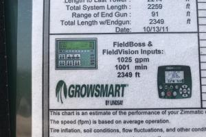 Irrigation rig control box information. (7 of 27)