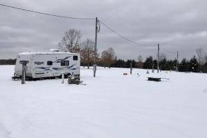 Full-utility RV park... On a very cold/snowy day.  (5 of 9)