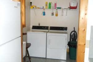 <p>Laundry room/mud room in cabin is off the kitchen.</p>