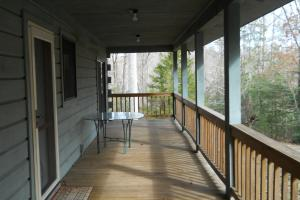 <p>Cabin front porch.</p>