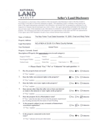 Land Disclosure<br>(Doc 3 of 3)