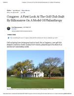 Congaree Golf Article Forbes<br>(Doc 1 of 2)