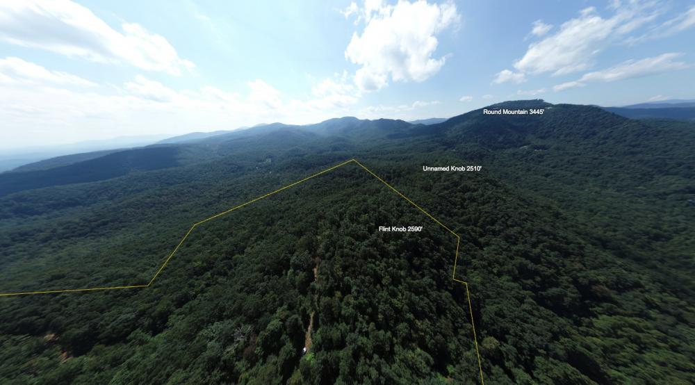 360 Mountain Views From Private Wilderness in Buncombe County, NC