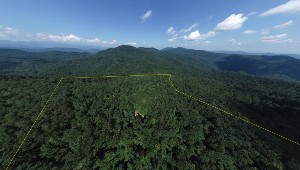 Private Wilderness With Long Range Views in Buncombe County, NC