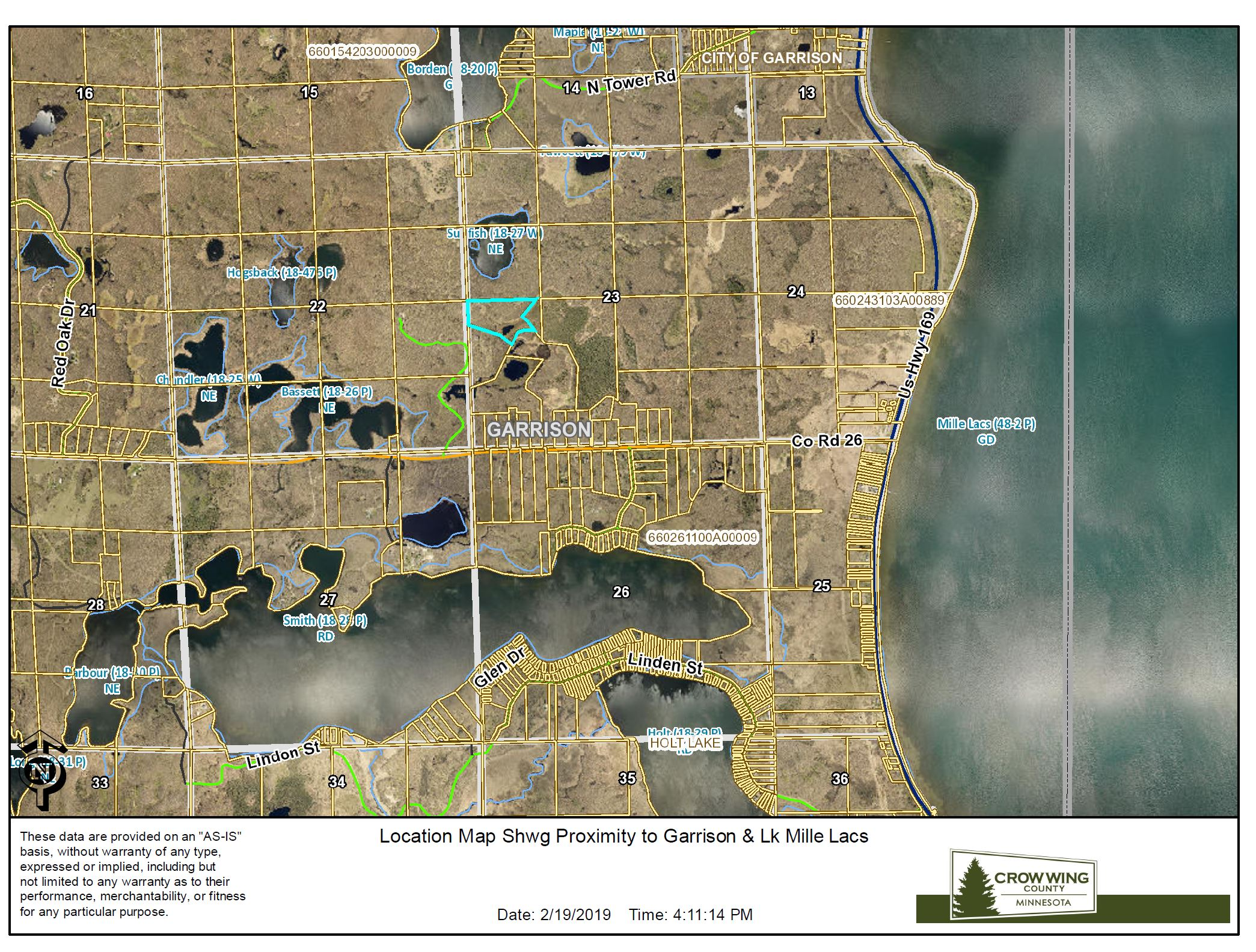 Location Map Shwg Proximity to Lk Mille Lacs<br>(Doc 5 of 8)