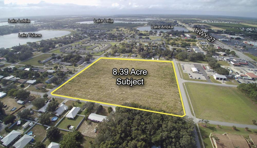 8.39 Acres of Commercial Development Land in Avon Park in Highlands County, FL