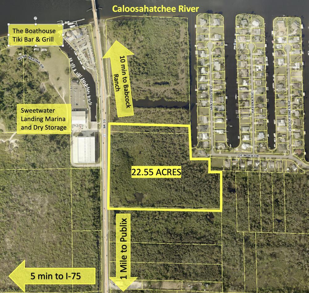 Babcock Ranch Caloosahatchee River Access Development Property in Lee County, FL