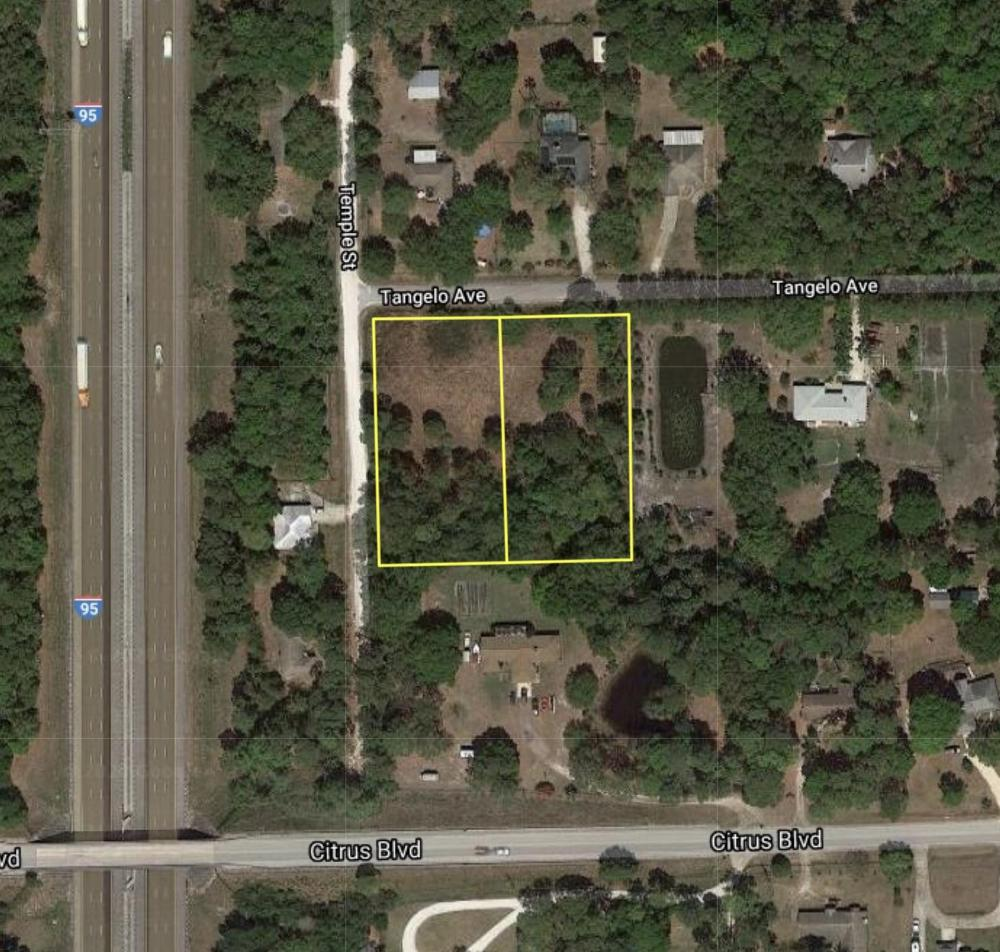 Large Corner Lot in Canaveral Groves in Brevard County, FL