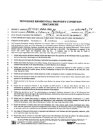 Seller Property Condition Disclosure<br>(Doc 2 of 2)